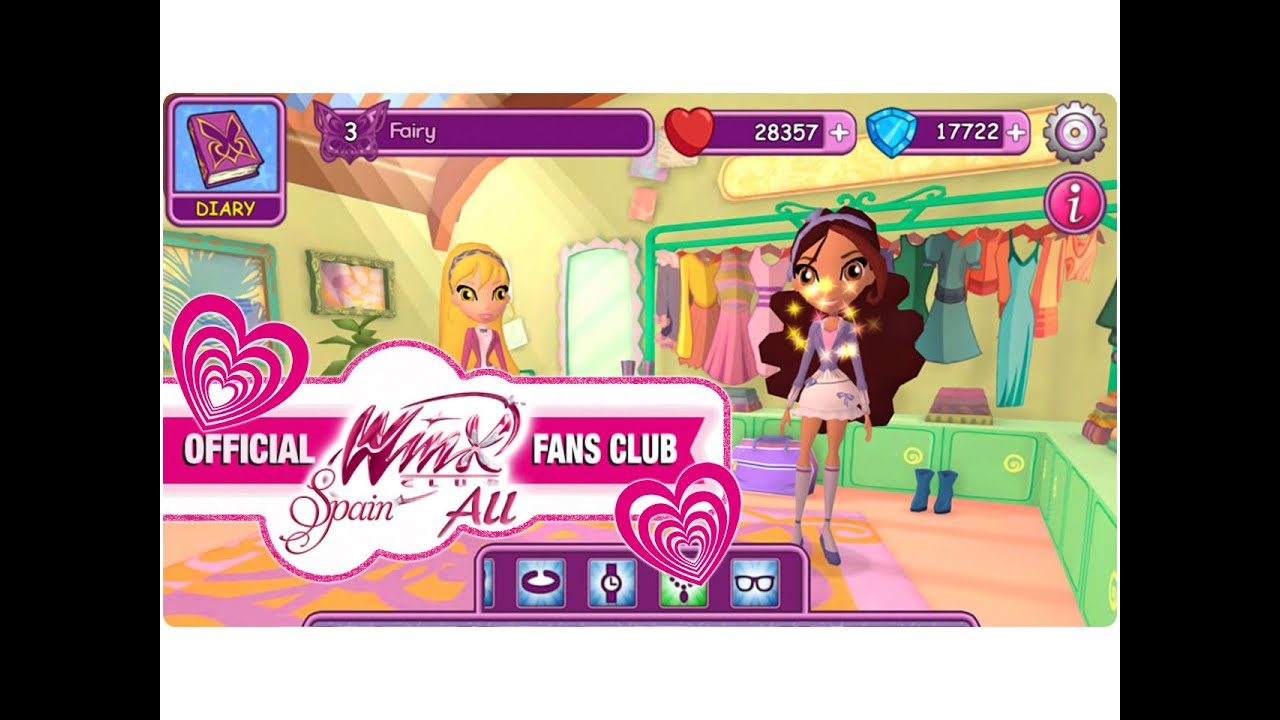 Dress up fairy games - Winx Fairy School Game Bedroom And Dress Up