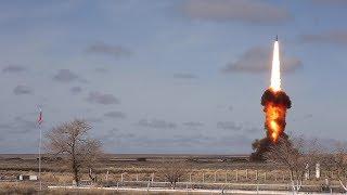 Випробувальний пуск нової модернізованої ракети російської системи ПРО на полігоні Сари-Шаган