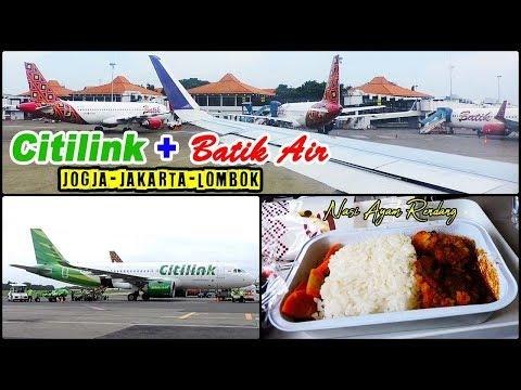 FLIGHT REPORT Duet Airbus A320 Citilink & Batik Air JOGJA—JAKARTA—LOMBOK
