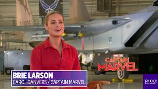 Brie Larson comments on social media posts about 'Captain Marvel' not smiling