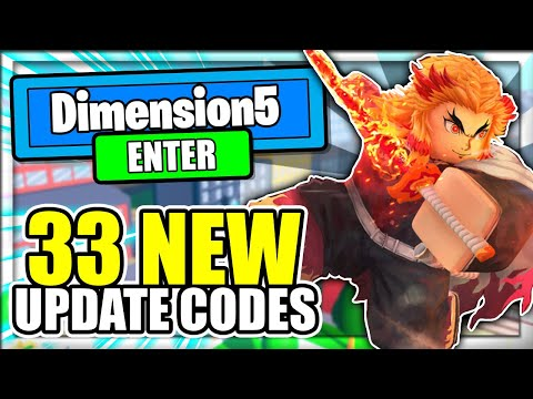 ALL 33 NEW *DIMENSION 5* UPDATE CODES! Anime Fighting Simulator Roblox