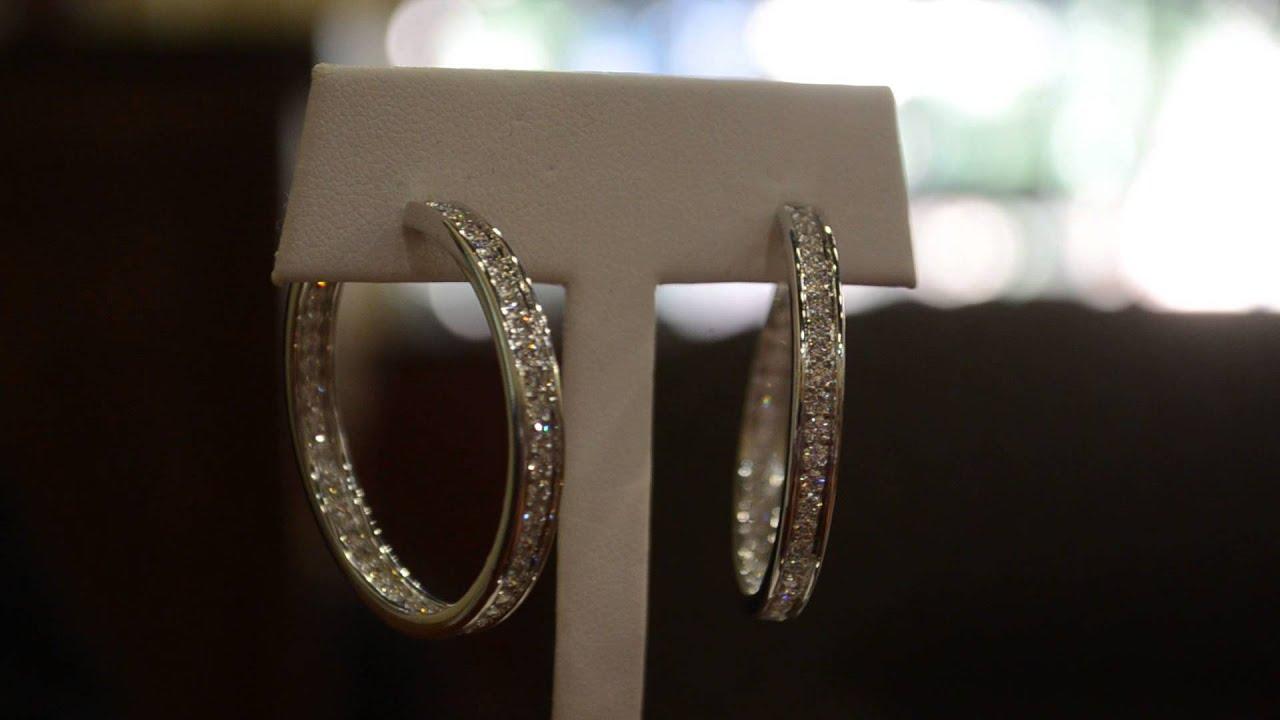 Cartier Diamond Hoop Earrings Inside Out 25cts Ef Vvs  Boca Raton Pawn
