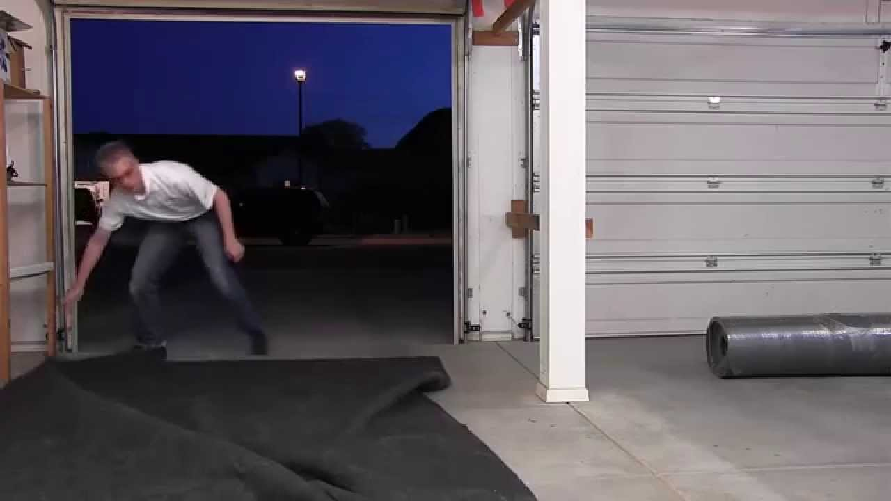 Drymate Garage Floor Mat Video Review Youtube