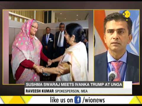 Foreign Minister Sushma Swaraj meets Ivanka Trump at UNGA session