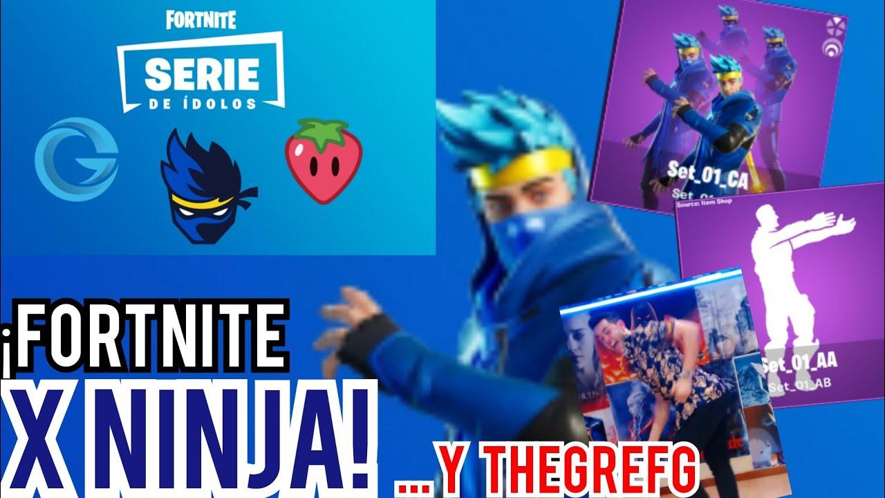 Icono De Fortnite Nueva Skin De Ninja Y Thegrefg En Fortnite Fortnite X Ninja Fortnite Serie De Iconos Youtube