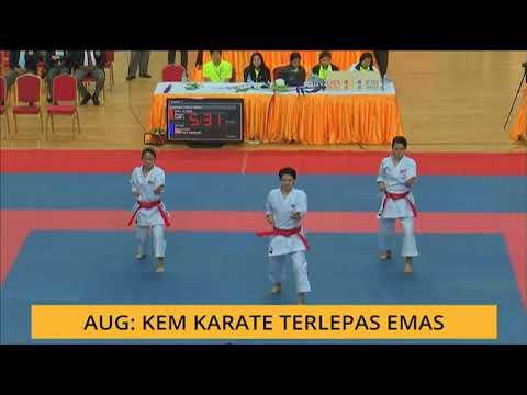 Aug: Kem karate terlepas emas