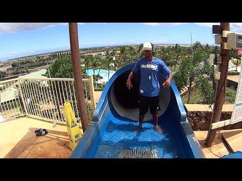 Massive Bowl Water Slide in Hawaii