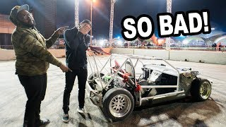 Driving Hoonigan's SHART CART & I crash it...