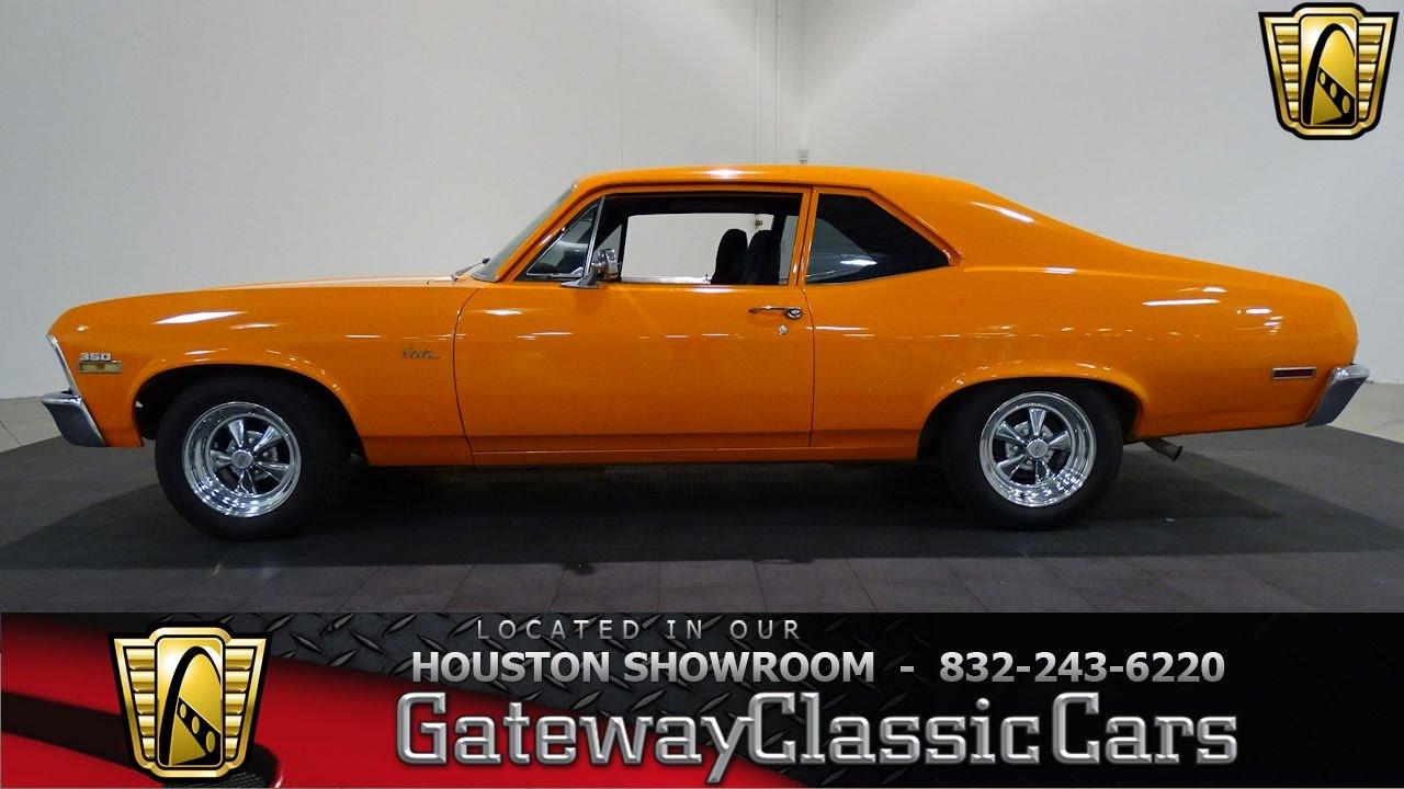 1972 chevrolet nova gateway classic cars 678 houston showroom youtube. Black Bedroom Furniture Sets. Home Design Ideas