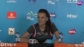 Agniezska Radwanska 2017 Apia International Sydney Semifinals Press Conference