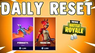 NEW PTERODACTIL GLIDER & RAWR EMOTE - Fortnite Daily Reset & NEW Items in Item Shop
