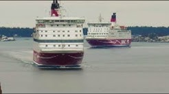 M/S Gabriella & Amorella I Mariehamn 12 Januari 2018 Viking Line