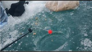 Зимняя рыбалка Капчагай Голубой залив
