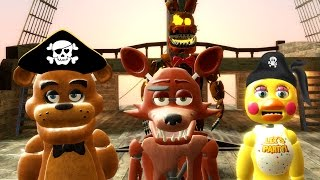 ANIMATRONIC PIRATE SHIP BATTLE! (Gmod FNAF Sandbox Funny Moments) Garry