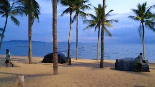 JOMTIEN BEACH ROAD 4K Паттайя 2021 Таиланд Саша и Лена