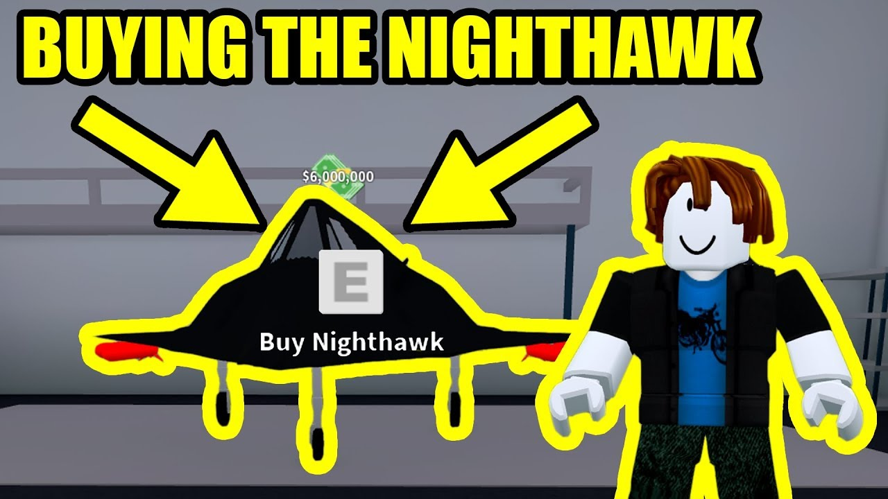 Buying The 6 Million Nighthawk Stealth Bomber Roblox Mad City