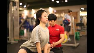 Personal Training with cute girl, Viva fitness,Korea