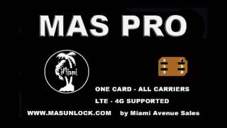 How to unlock iPhone 7 6C 6S SE 5S 5C T-Mobile, AT&T, Sprint and all other using MAS PRO SIM