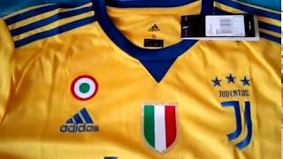 Gogoalshop.com 17-18 Juventus Away Yellow&Blue Soccer Jersey Kit - Unboxing Review