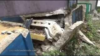 Cementerio dañado en aldea Feria de San Rafael Pie de la Cuesta
