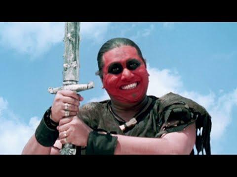 Bollywood Movies Action Scene– Jhamunda Attacks Javed Jaffrey  – Hindi Movies –Jajantaram Mamantaram