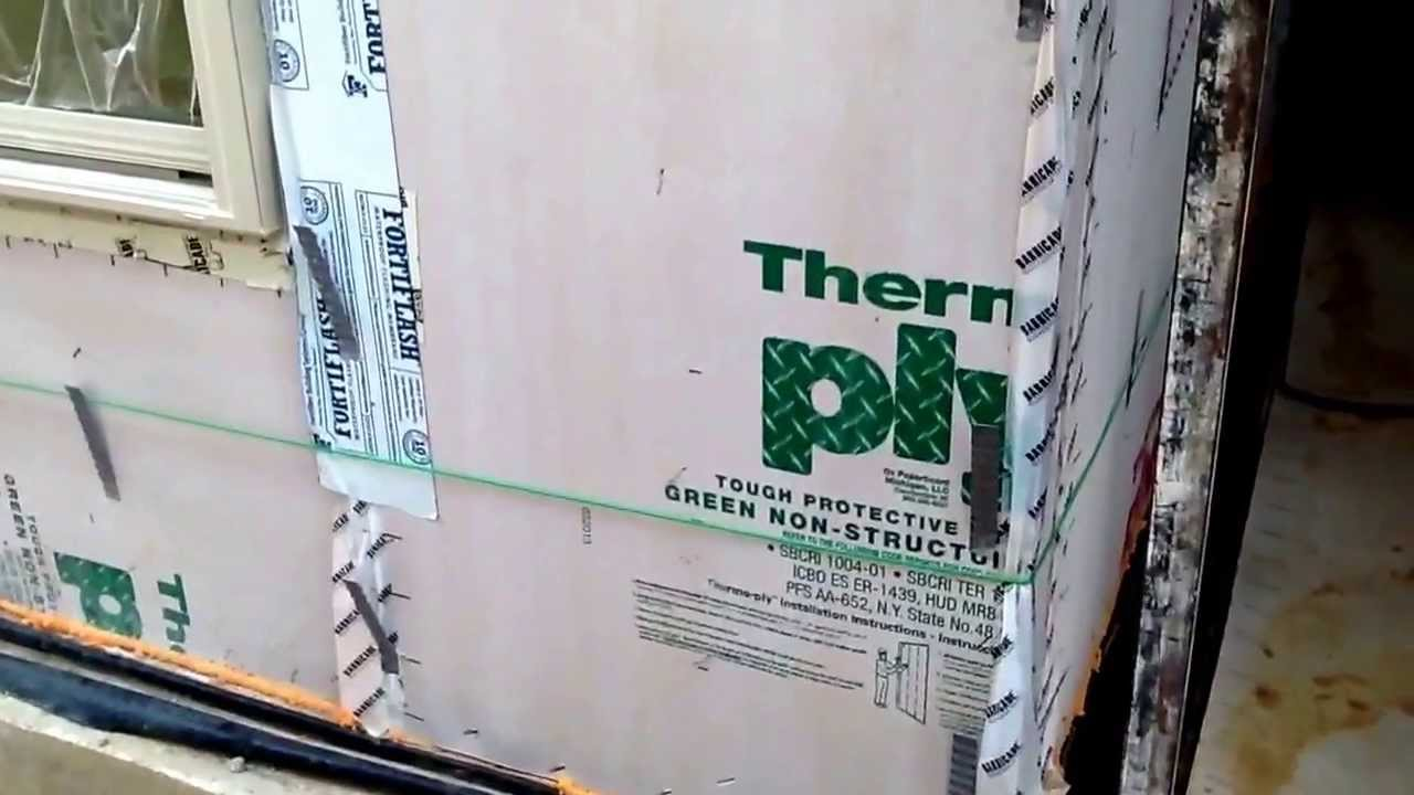 Thermoply Sheathing And Sealant For Energy Efficiency Youtube
