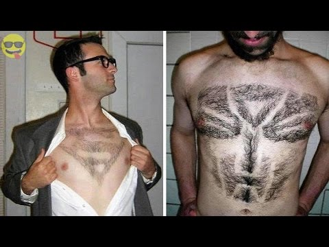 30 Most Craziest Chest Hair Styles And Designs