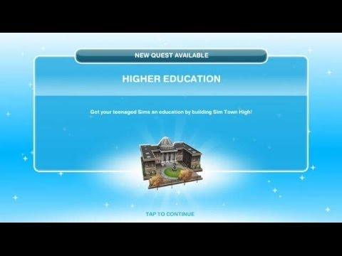 [The Sims Freeplay] - Higher Education Görevi