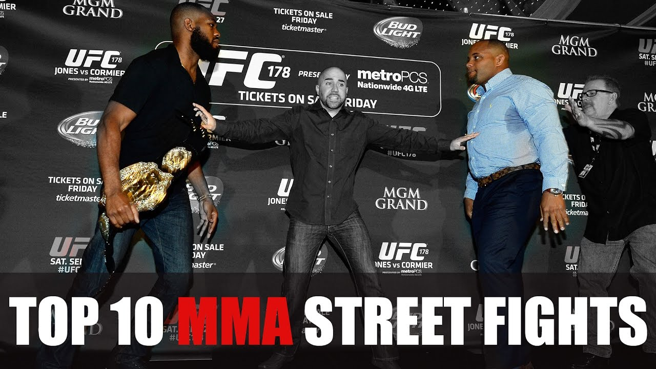ufc mma fighter street fight brawls top 10 fights compilation