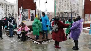 Зажигательные танцы активистов SaveФОП перед маршем 28 января