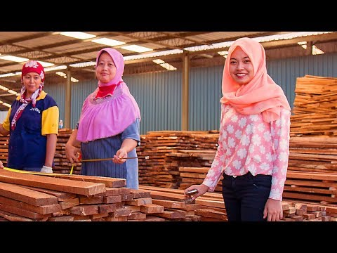 Indonesia Rosewood production with Wood-Mizer LT20 Sawmill - Wood