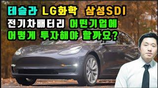 테슬라,LG화학,삼성SDI 전기차 배터리 어떤 기업에어떻게투자해야할까요?