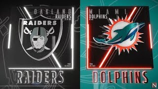 Oakland Raiders vs Miami Dolphins Madden 19 Full Game Simulation Nation