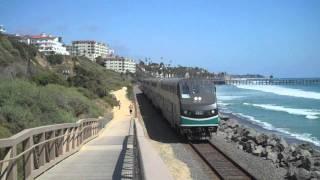 Railfanning San Clemente, Ca - Amtrak & Metrolink Trains, 7/13/11