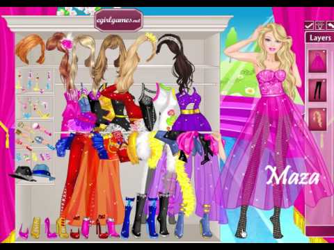 BARBIE GAMES - SAFARI DRESS UP - CONCERT PRINCESS - PAJAMA MAKEOVER - SPA SALON