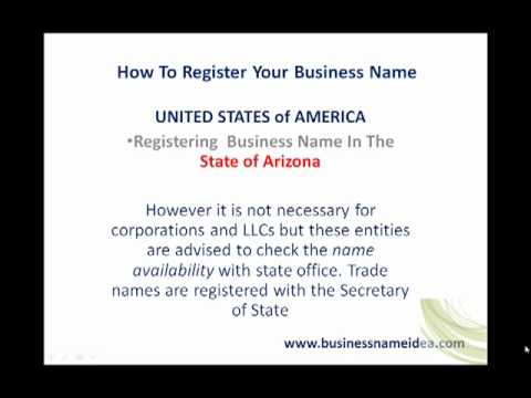 How to register business name in Arizona
