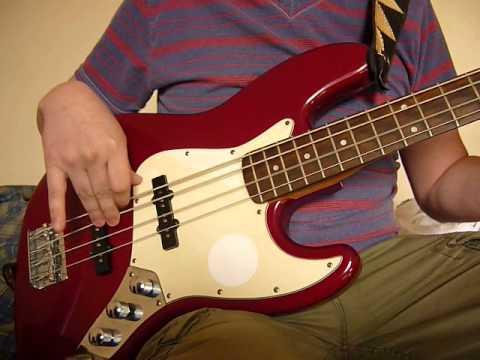 Squier Jazz Bass California Series Con Dimarzio Area Set Pull Push