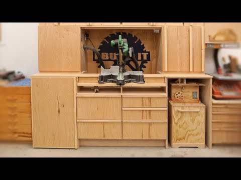 How To Build a Miter Saw Station - FULL Video