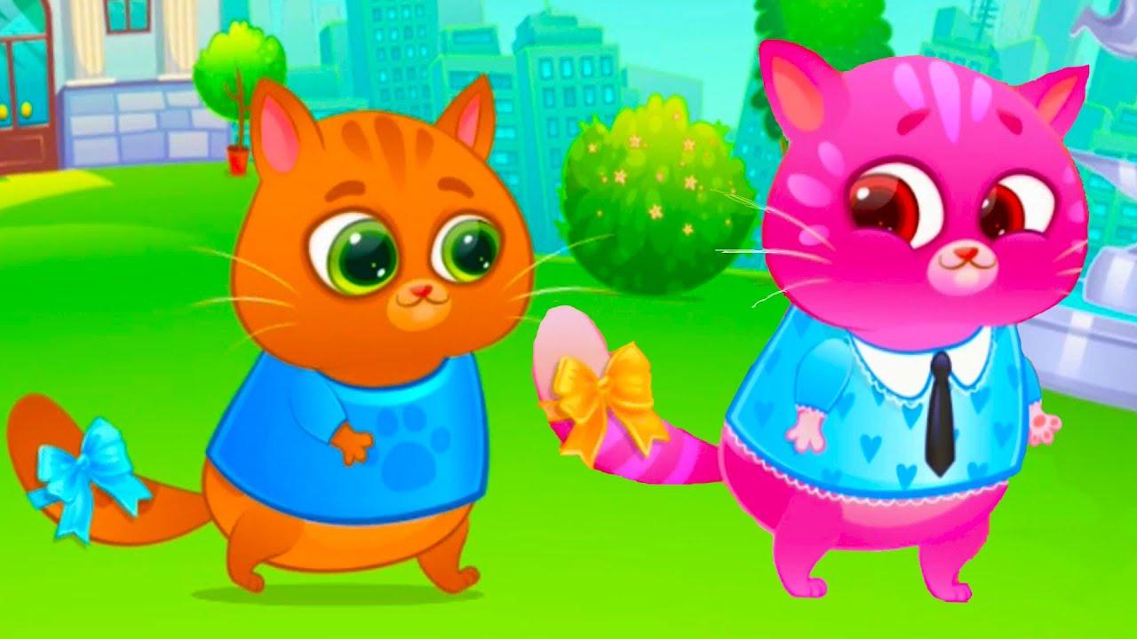 Котик bubbu #1 – игровой мультик для детей, ухаживаем за котиком.