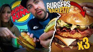 Je goûte les trois nouveaux Burgers à la Raclette de chez Burger King avec Pidi !
