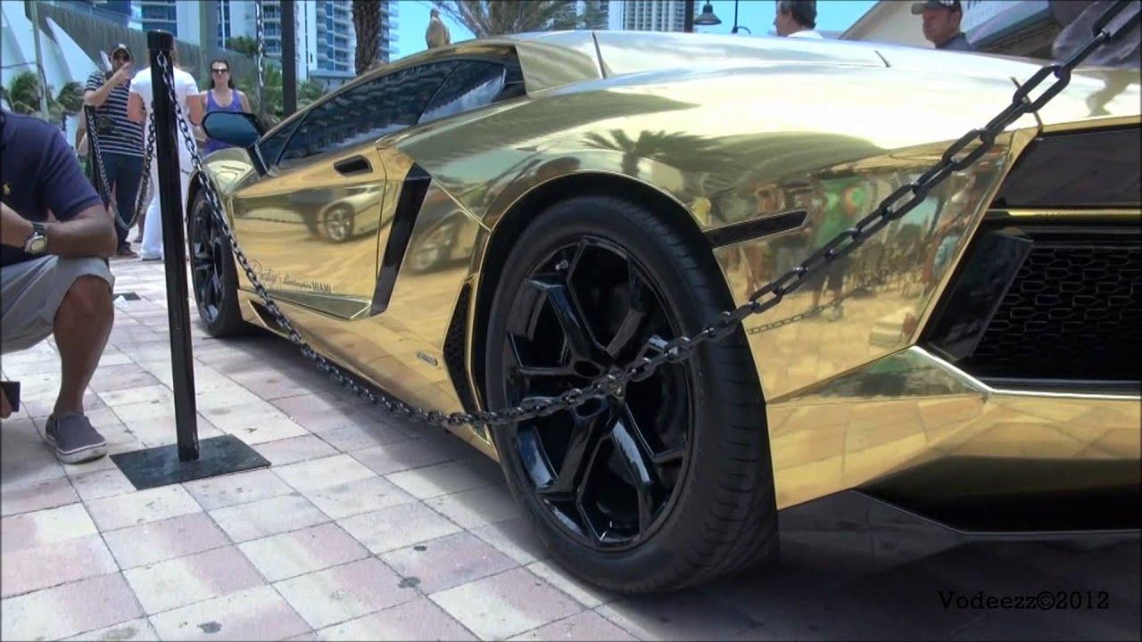 2012 lamborghini aventador lp700 4 in chrome gold 1080p youtube - Lamborghini Aventador Gold And Black