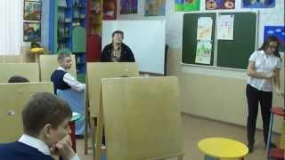 Урок  в 7-ом классе по ИЗО