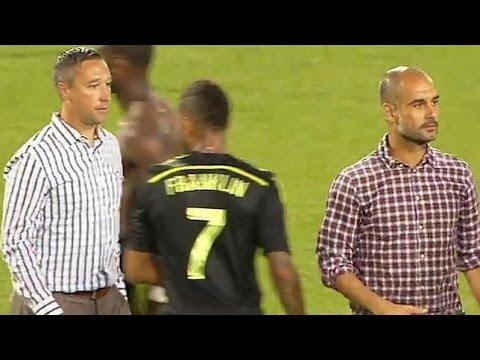 Pep Guardiola Niega darle la mano a entrenador de la Mls. / Bayern Munich vs Mls All Stars