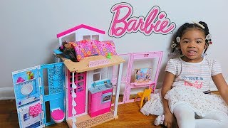 UNBOXING THE BARBIE TWO STORY HOUSE!! Princess Aivas World