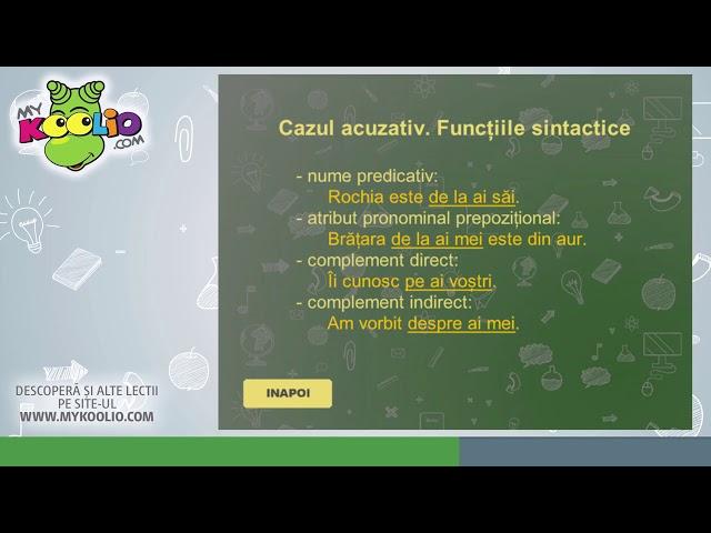 Lecție demo limba română, clasa a VII-a, Pronumele personal. Pronumele posesiv.