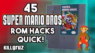 45 Super Mario ROM Hacks on 1 Cartridge!