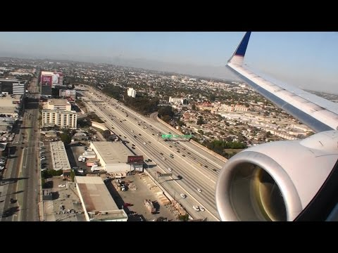 Fantastic First Class HD Boeing 737-800 Landing In Los Angeles On United Airlines!!!