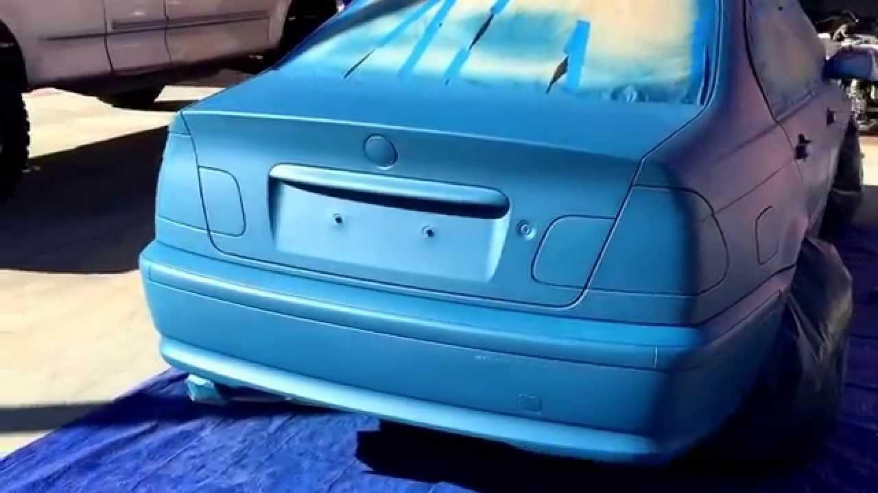 Bmw E46 Blue Plasti Dip Full Car Dip Youtube