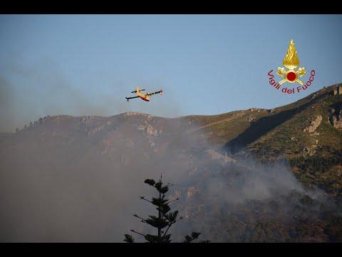 Monreale (PA) - Incendio Vegetazione