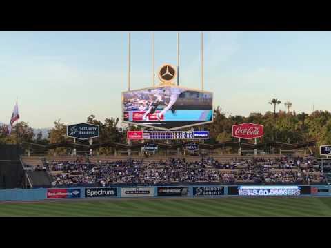 Los Angeles Dodgers 2017 Starting Lineups (vs. Arizona Diamondbacks)